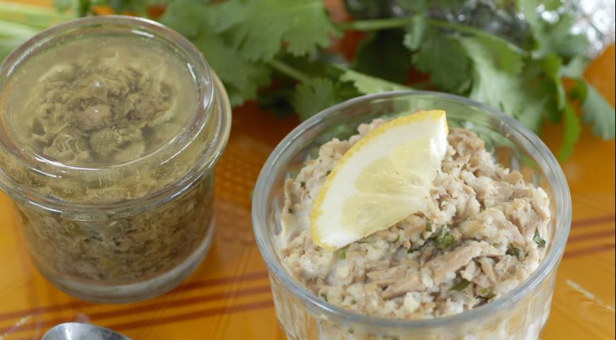 Рецепт Паштет из консервированного тунца