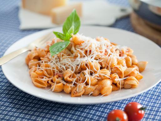 Рецепт Паста с фасолью и помидорами