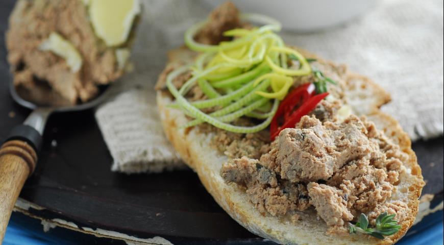 Рецепт Паштет из куриной печенки с бренди