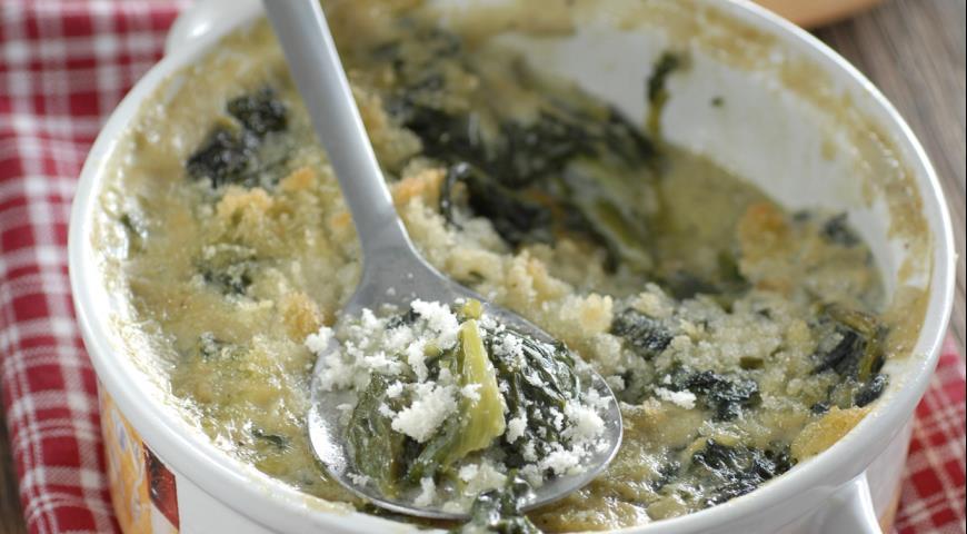 Рецепт Запеканка из зелени в сливочном соусе