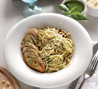 Рецепт Куриная грудка в песто со спагетти
