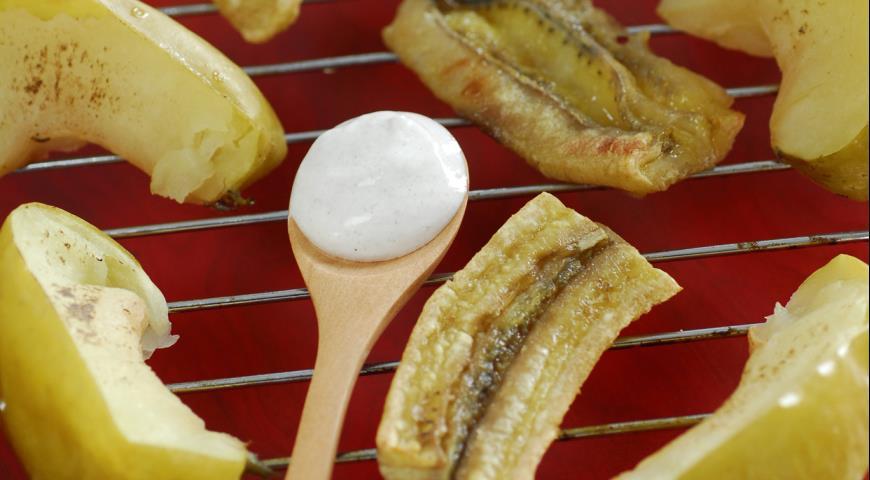 Рецепт Яблоки и бананы на гриле