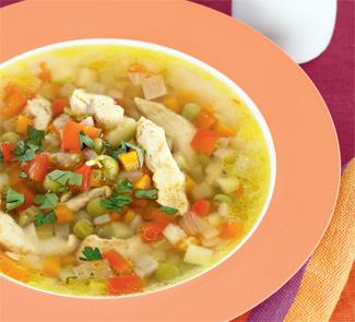 Рецепт Суп с пряной курицей и овощами