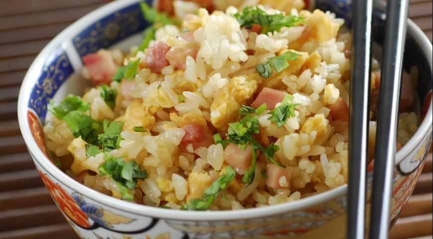 Рецепт Рис, жаренный с яйцами