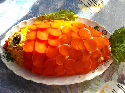 Рецепт Салат Рыбка