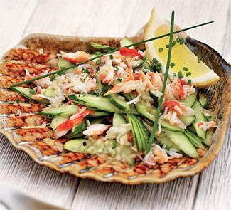Рецепт Крабовый салат с огурцами