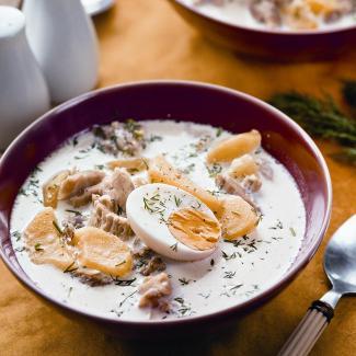 Рецепт Суп с курицей и яйцами