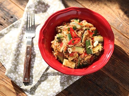 Рецепт Кабачки с рисом и овощами