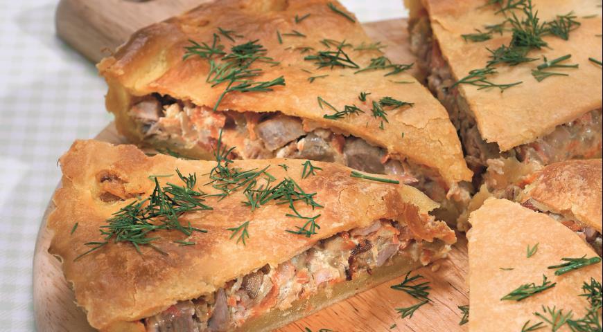 Рецепт Пирог со свининой и овощами