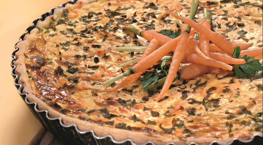 Рецепт Киш с перцем и морковью