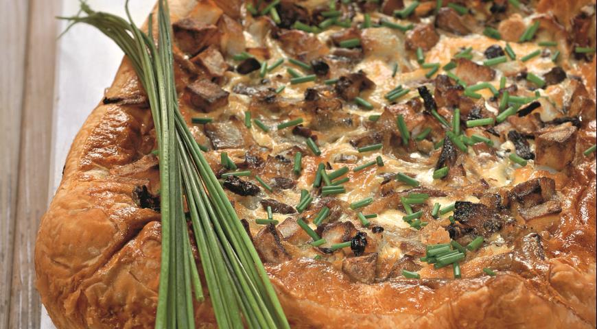 Грибной пирог с картофелем