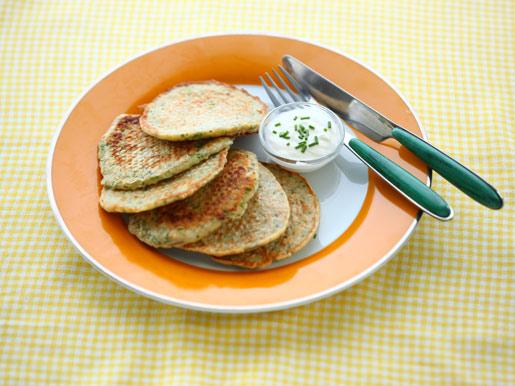 Рецепт Оладьи с овсянкой и зеленым луком