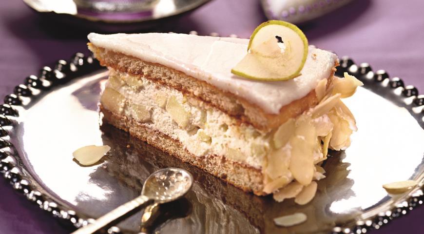 Рецепт Орехово-грушевый торт