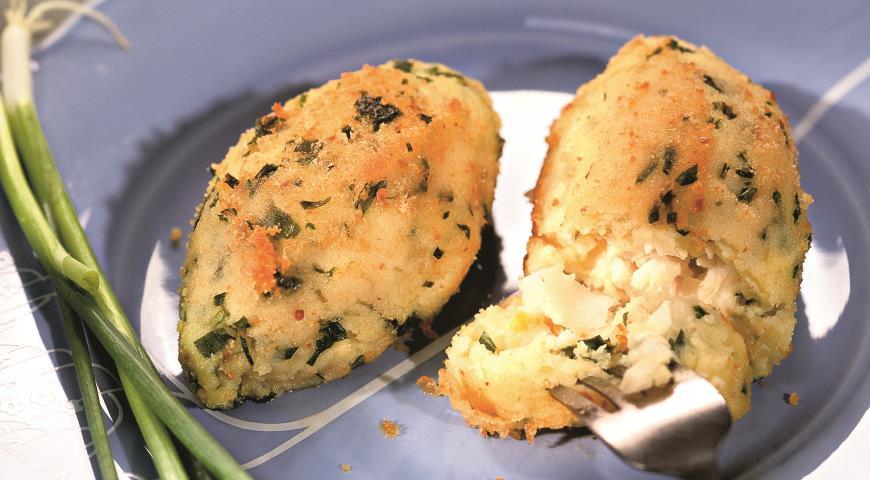 Рецепт Зразы из картофеля с минтаем