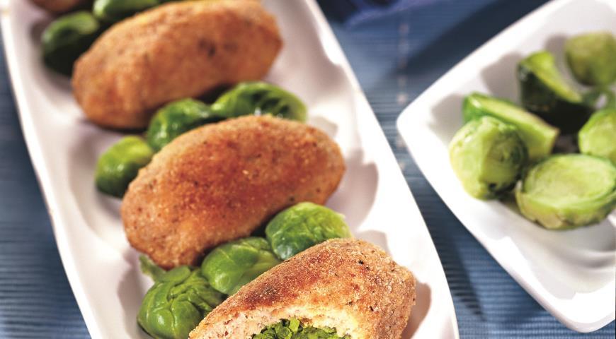 Рецепт Зразы из лосося с зеленым горошком