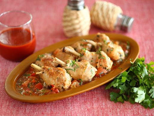 Рецепт Курица, тушеная в винном соусе