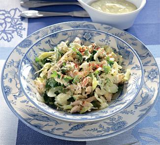 Рецепт Куриный салат с соусом карри