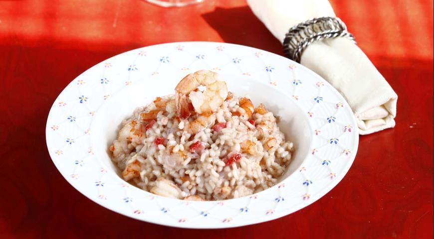 Рецепт Ризотто с клубникой и креветками