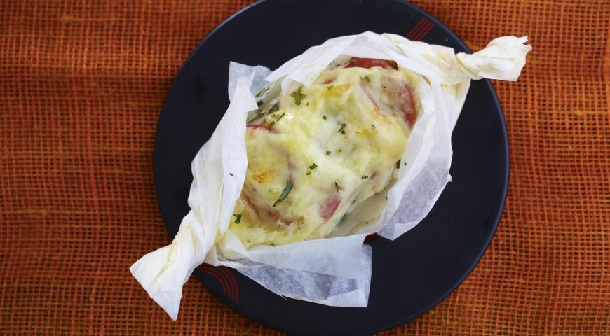 Рецепт Куриная грудка в конверте с моцареллой