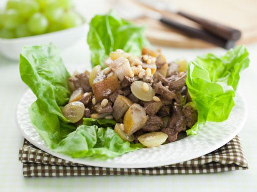 Рецепт Теплый салат из печенки