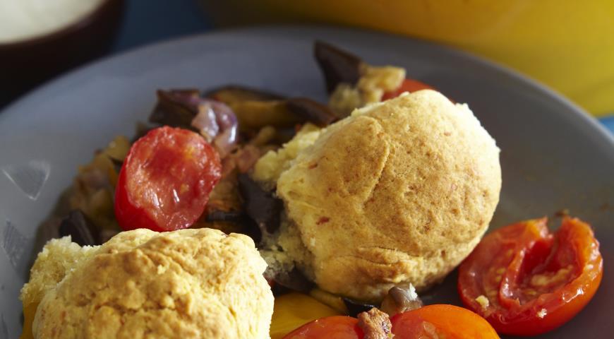 Рецепт Овощной коблер с беконом и сыром