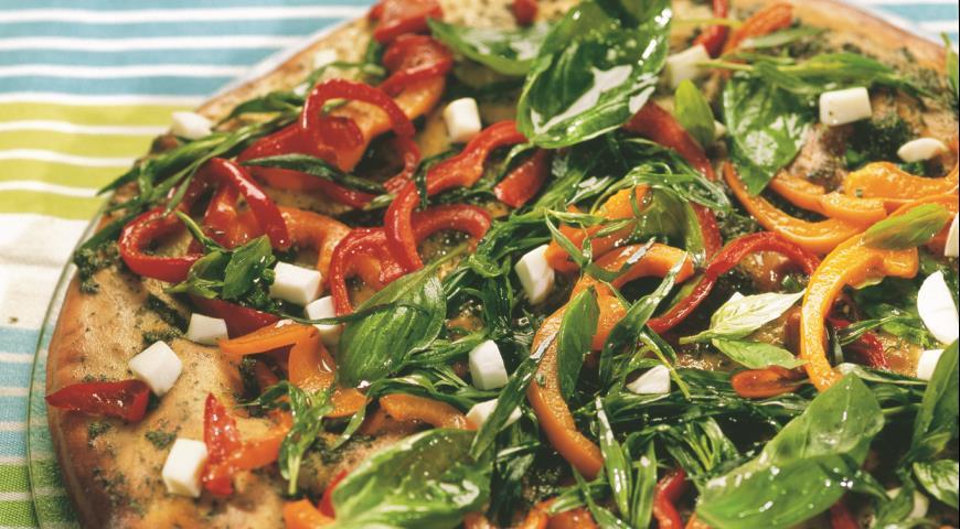 Рецепт Пицца с эстрагоном и соусом песто
