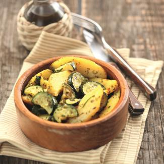 Рецепт Cалат из цукини и картофеля с мятой