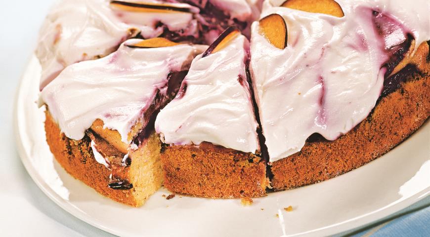 Рецепт Сливовый пирог с хересом