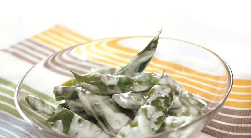 Рецепт Стручковая фасоль в сырном соусе