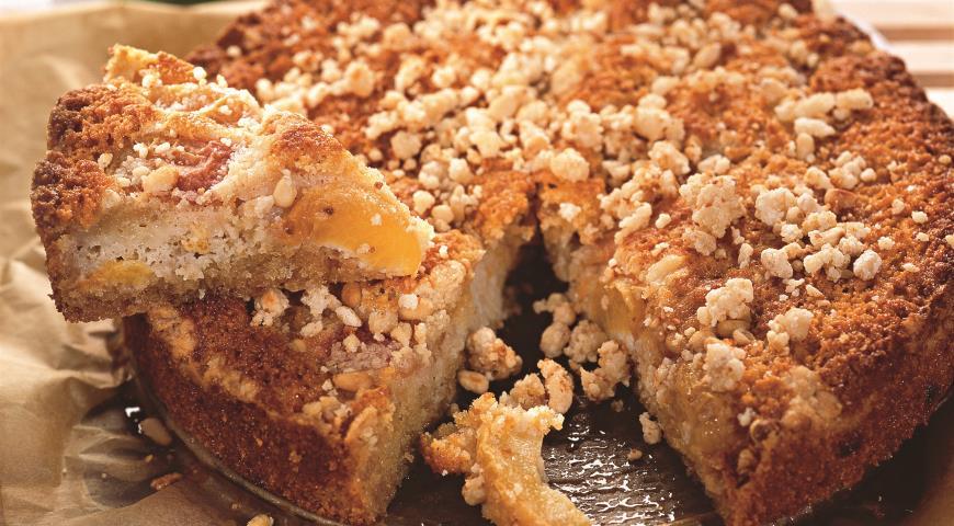 Рецепт Персиковый пирог со штрейзелем