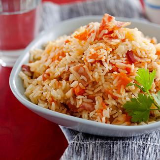 Рецепт Рисовая каша с тыквой и беконом в мультиварке