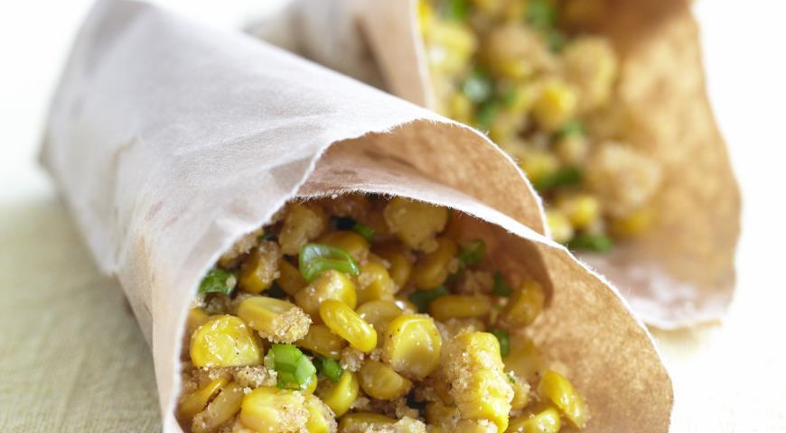 Рецепт Жаренная во фритюре кукуруза