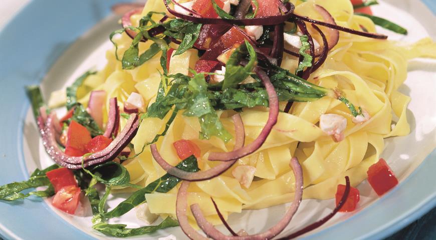 Рецепт Лапша с овощами и сыром