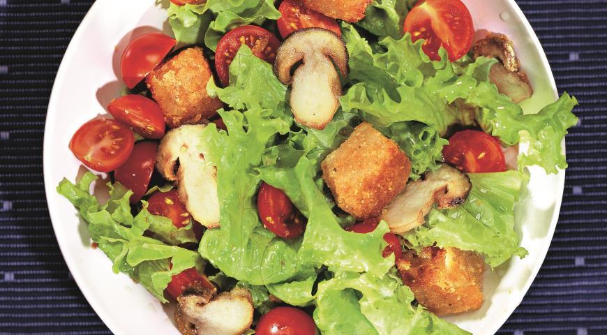 Рецепт Салат с белыми грибами