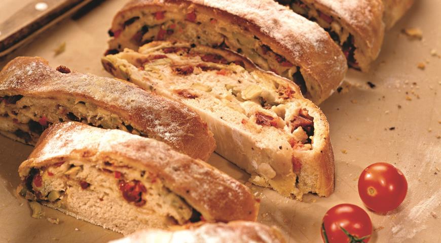 Рецепт Итальянский батон с моццареллой