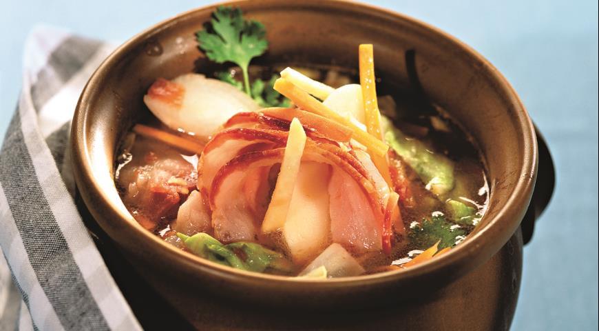 Рецепт Суп овощной в горшочке