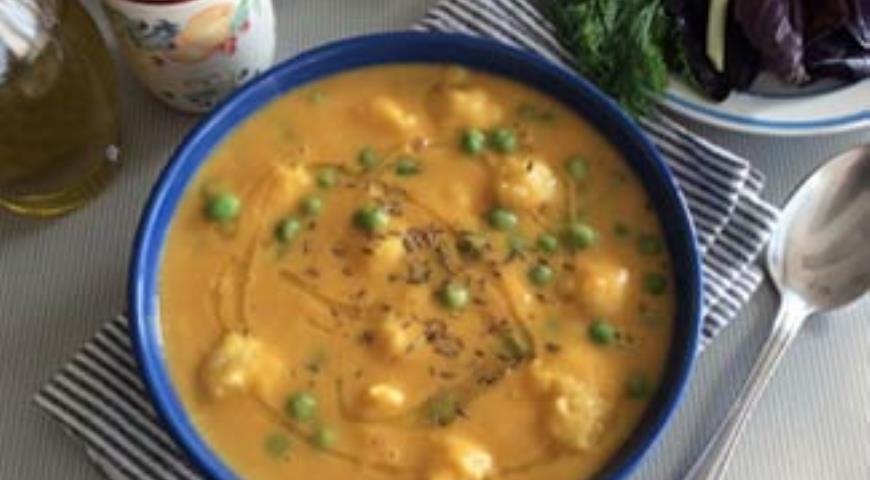 Рецепт Суп-пюре из тыквы и чечевицы с картофельными клёцками