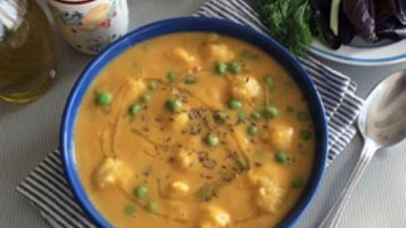 Суп-пюре из тыквы и чечевицы с картофельными клёцками, пошаговый рецепт с фото