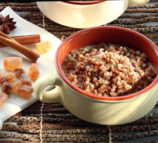Рецепт Гречневая каша с пряным молоком