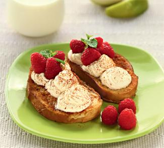Рецепт Гренки с яблочными сливками