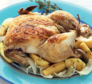 Рецепт Цыпленок с яблоками