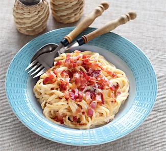 Спагетти карбонара с беконом и сливками рецепт пошагово