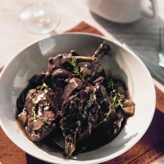 Рецепт Французский кролик в вине