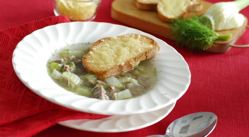 Рецепт Суп из ягненка с фенхелем и сыром