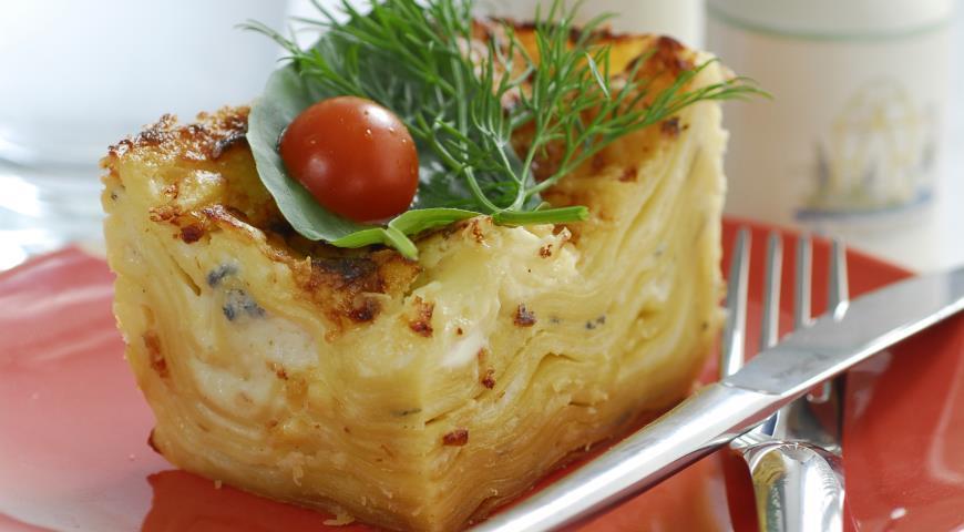 Рецепт Лазанья с тремя видами сыра