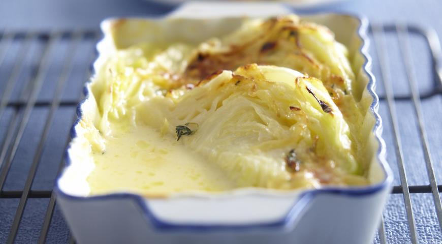 Рецепт Капуста, запеченная со сливками