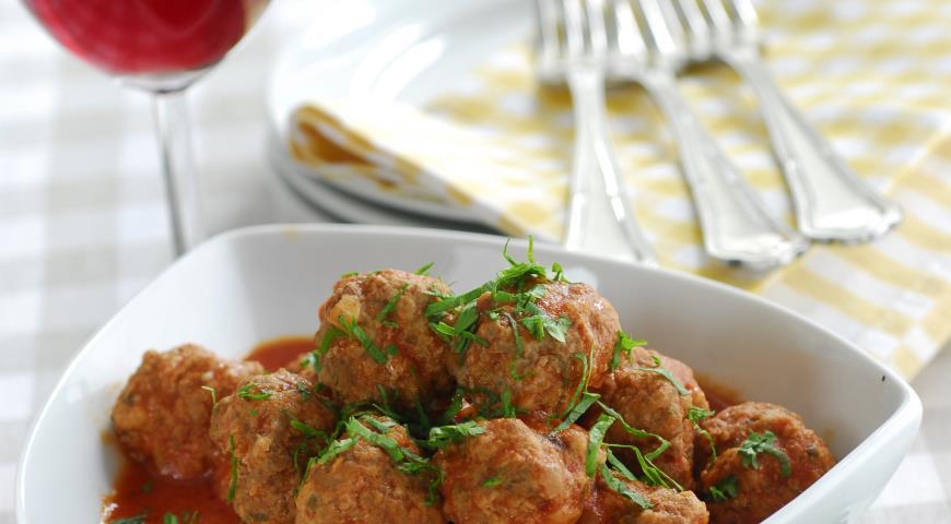 Рецепт Фрикадельки в томатном соусе