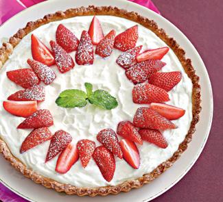 Рецепт Тарт с клубникой и творожно-йогуртовой начинкой
