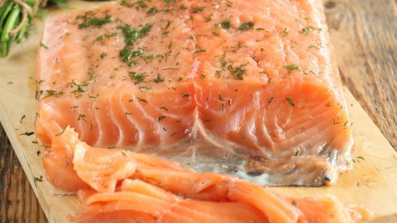 Гравлакс, скандинавская соленая семга, пошаговый рецепт с фото