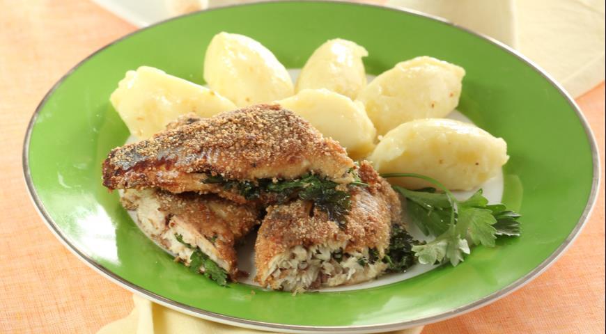 Рецепт Жареная сельдь с картофельным пюре